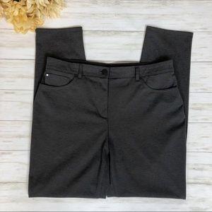 Chico's So Slimming Gray Ponte Knit Pants Petite